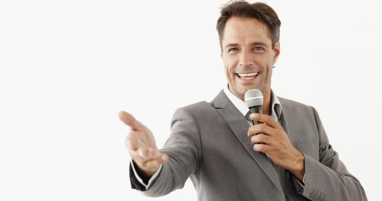 Professional host presenting your products