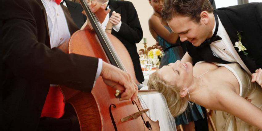 Klassische Hochzeit mit Streichquartett