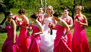 Reis werfen, Schleiertanz und Brautentführung