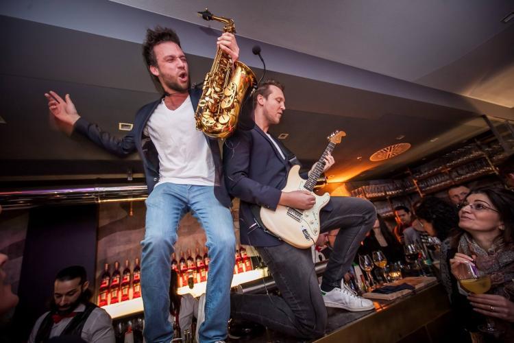 Live Event Music Saxophon und Gitarre