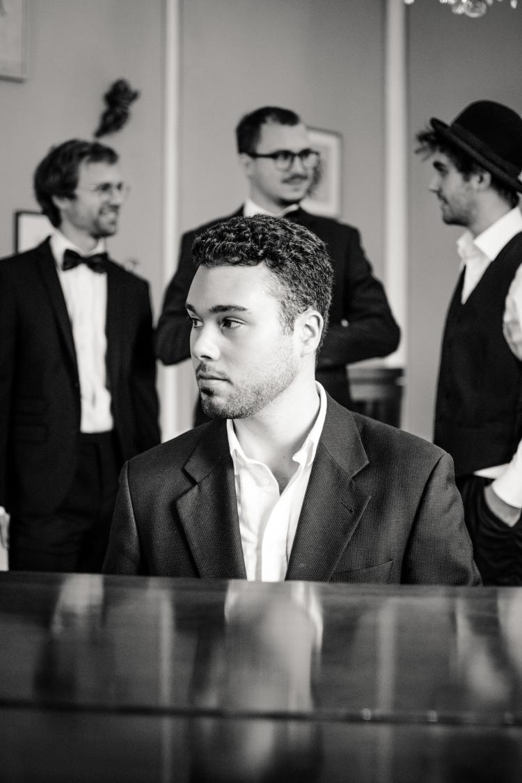 All Jazz Ambassadors Pianist im Vordergrund