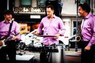 Laterne-Live: Mobile Band mit variabler Lautstärke
