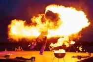 Flamba Feuershows Feuerkreisel