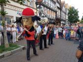 The Sax Puppets in der Fußgängerzone