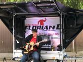 Florian D. mit der kleinste mobile Live-Bühne Deutschlands
