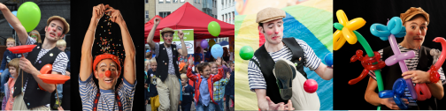 Clown Olli - Shows, Stelzenläufer, Kinderprogramm
