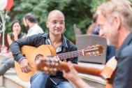 Manuel Montilla spanische und lateinamerikanische live Musik Gitarre, Flamenco-Tänzerin,  Salsa