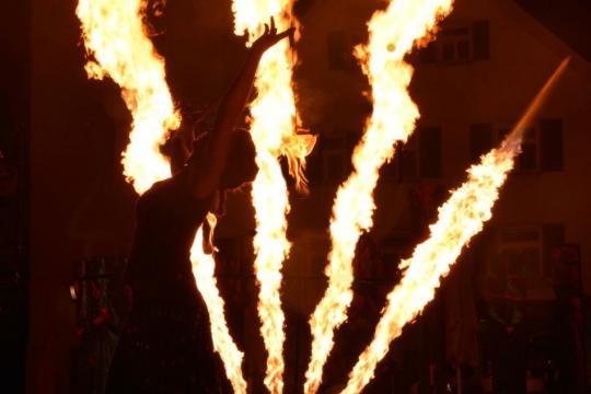 Feuershow Mancucéla
