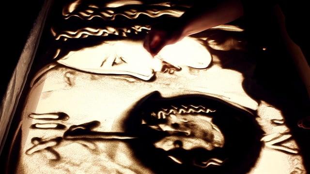 Video: Sandmalerei von Elena Handel Sandshow  Hochzeit sandpainting wedding