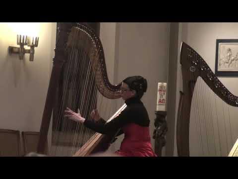 Video: Magic arabic harp music. Live: Marcel Tournier: Danseuse à la fontaine d´Aïn-Draham. Lydie Römisch