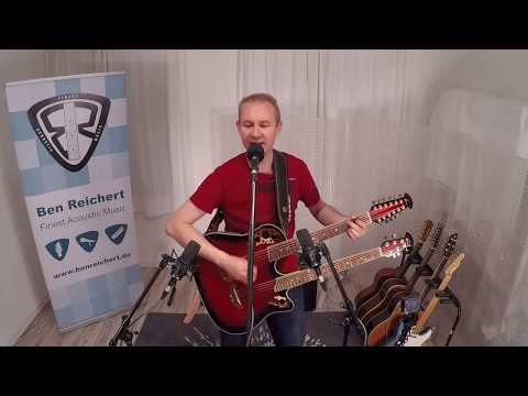Video: Bon Jovi - Wanted Dead Or Alive acoustic doubleneck guitar cover