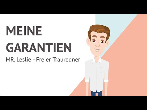 Video: Meine Garantien // MR.  Leslie - Freier Trauredner