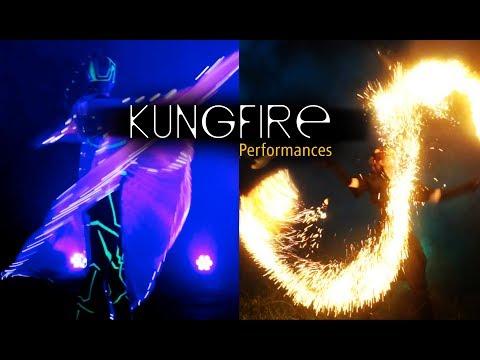 Video: Kungfire • Lichtshows und Feuershows