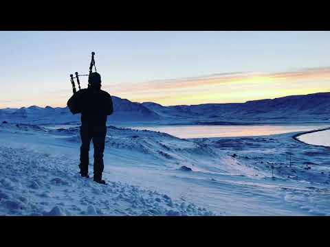"Video: Bagpipe Tune "" 5 Ardveenish"" in the North of Iceland"