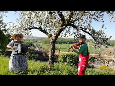 Video: Grüß Gott du schöner Maien mit Elke Knötzele am Akkordeon und Clown Pipinelli, Violine