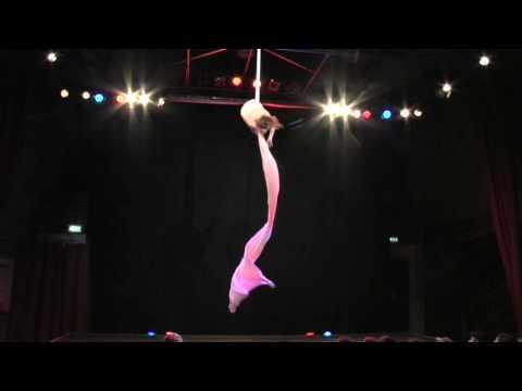Video: Airdance -  moderne Vertikaltuch - Artistik in weiß