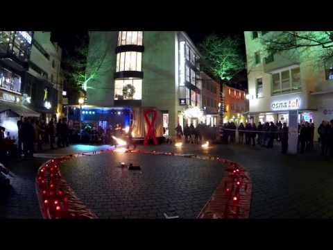 Video: Feuershow Probe zum Welt Aids Tag